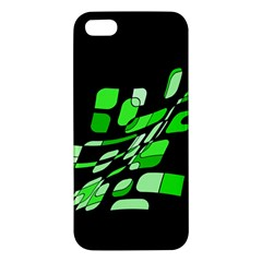 Green decorative abstraction Apple iPhone 5 Premium Hardshell Case