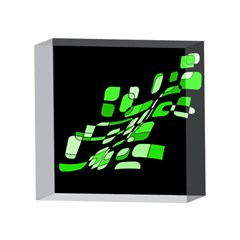 Green decorative abstraction 4 x 4  Acrylic Photo Blocks