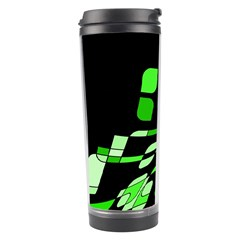 Green decorative abstraction Travel Tumbler