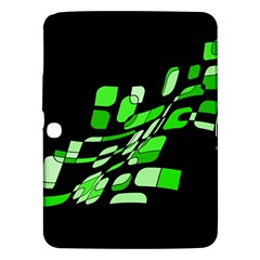 Green decorative abstraction Samsung Galaxy Tab 3 (10.1 ) P5200 Hardshell Case