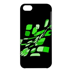 Green decorative abstraction Apple iPhone 5C Hardshell Case