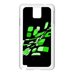 Green decorative abstraction Samsung Galaxy Note 3 N9005 Case (White)