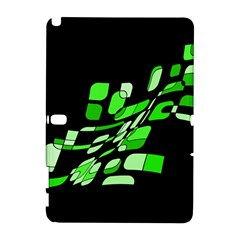 Green decorative abstraction Samsung Galaxy Note 10.1 (P600) Hardshell Case