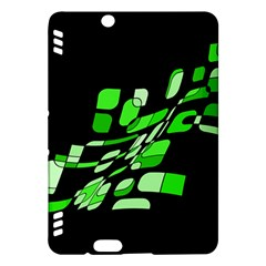 Green decorative abstraction Kindle Fire HDX Hardshell Case