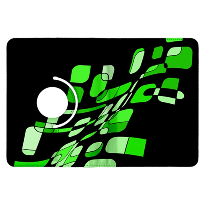Green decorative abstraction Kindle Fire HDX Flip 360 Case
