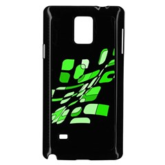 Green decorative abstraction Samsung Galaxy Note 4 Case (Black)
