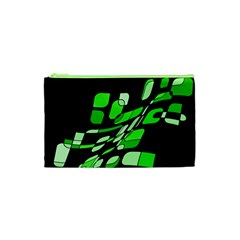 Green decorative abstraction Cosmetic Bag (XS)