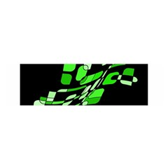 Green decorative abstraction Satin Scarf (Oblong)
