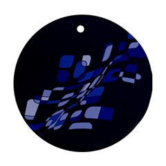 Blue abstraction Ornament (Round)