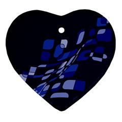 Blue abstraction Ornament (Heart)
