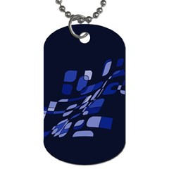 Blue abstraction Dog Tag (One Side)