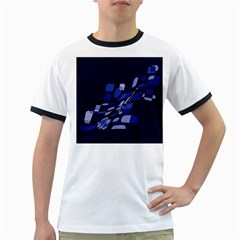 Blue abstraction Ringer T-Shirts