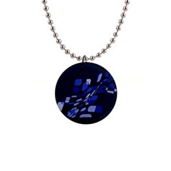 Blue abstraction Button Necklaces