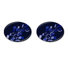 Blue abstraction Cufflinks (Oval)