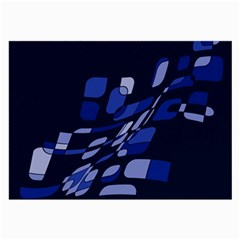 Blue abstraction Large Glasses Cloth (2-Side)