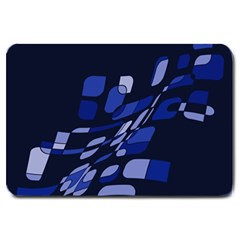 Blue abstraction Large Doormat