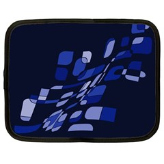 Blue abstraction Netbook Case (Large)