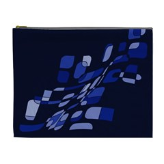 Blue abstraction Cosmetic Bag (XL)