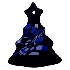 Blue abstraction Ornament (Christmas Tree)