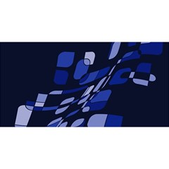 Blue abstraction YOU ARE INVITED 3D Greeting Card (8x4)