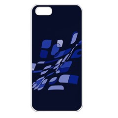 Blue abstraction Apple iPhone 5 Seamless Case (White)