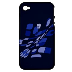 Blue abstraction Apple iPhone 4/4S Hardshell Case (PC+Silicone)