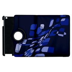 Blue abstraction Apple iPad 3/4 Flip 360 Case