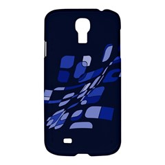 Blue abstraction Samsung Galaxy S4 I9500/I9505 Hardshell Case
