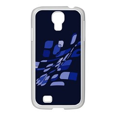 Blue abstraction Samsung GALAXY S4 I9500/ I9505 Case (White)