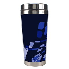 Blue abstraction Stainless Steel Travel Tumblers