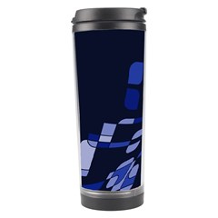 Blue abstraction Travel Tumbler
