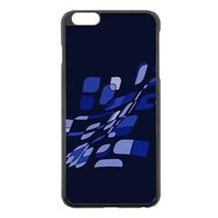 Blue abstraction Apple iPhone 6 Plus/6S Plus Black Enamel Case