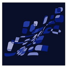 Blue abstraction Large Satin Scarf (Square)