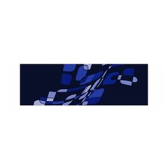 Blue abstraction Satin Scarf (Oblong)