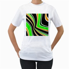 Colors of 70 s Women s T-Shirt (White) (Two Sided)