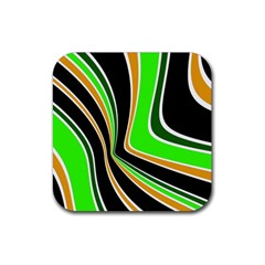 Colors of 70 s Rubber Coaster (Square)