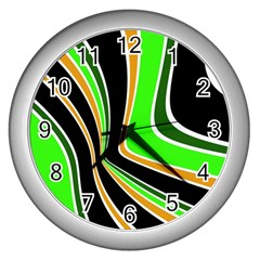 Colors of 70 s Wall Clocks (Silver)