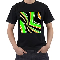 Colors of 70 s Men s T-Shirt (Black) (Two Sided)