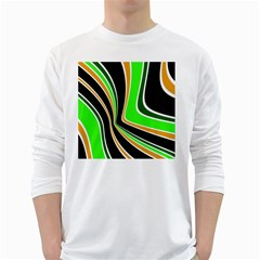 Colors of 70 s White Long Sleeve T-Shirts