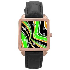 Colors of 70 s Rose Gold Leather Watch