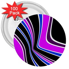 Colors of 70 s 3  Buttons (100 pack)