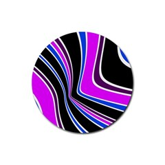 Colors of 70 s Rubber Coaster (Round)