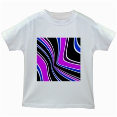 Colors of 70 s Kids White T-Shirts