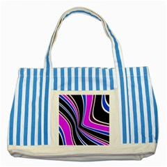 Colors of 70 s Striped Blue Tote Bag