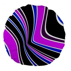 Colors of 70 s Large 18  Premium Flano Round Cushions