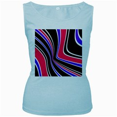 Colors of 70 s Women s Baby Blue Tank Top