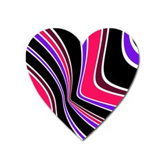 Colors of 70 s Heart Magnet