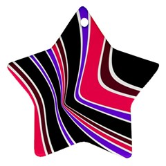 Colors of 70 s Star Ornament (Two Sides)