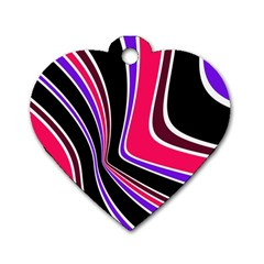 Colors of 70 s Dog Tag Heart (One Side)