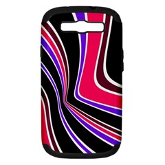 Colors of 70 s Samsung Galaxy S III Hardshell Case (PC+Silicone)